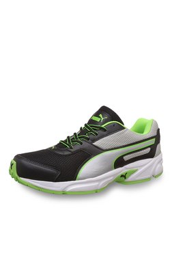 Puma Adamo IDP Black & Silver Running Shoes