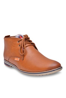 Fashion Victim Tan Derby Boots