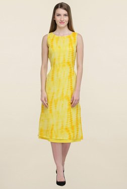 Magnetic Designs Yellow Tie Dye Dress