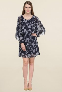 Magnetic Designs Navy Floral Print Dress