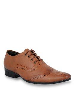 Shoe Sense Classic Tan Brogue Shoes