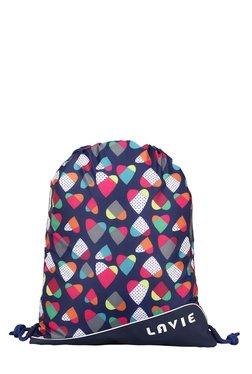 Lavie Tourister Navy Heart Printed Backpack