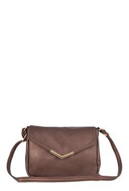 Lavie Rosetta Dark Brown Solid Sling Bag