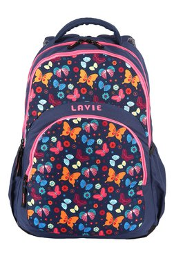 Lavie Chic Navy & Orange Printed Backpack