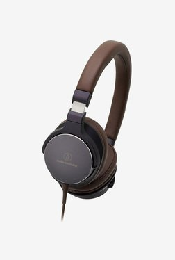 Audio-Technica ATH-SR5NBW On-Ear Headphone (Brown)