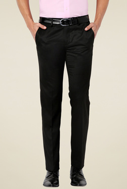 Van Heusen Black Slim Fit Flat Front Trousers