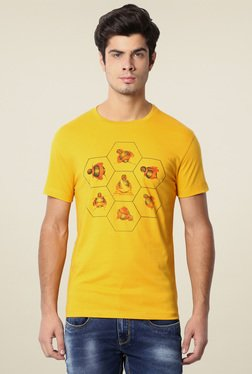Peter England Dandelion Crew Neck Slim Fit T-Shirt