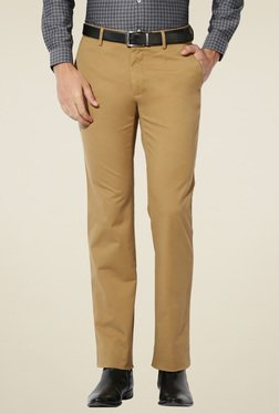 Van Heusen Khaki Regular Fit Slim Fit Trousers