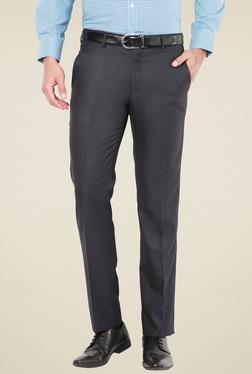 Van Heusen Iron Grey Slim Fit Flat Front Trousers