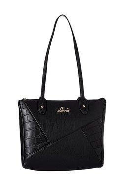 Lavie Rubber Black Textured Small Shoulder Bag