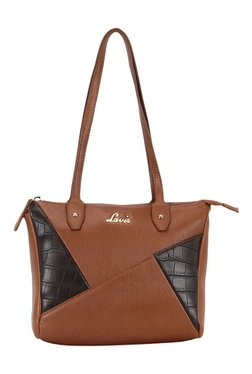 Lavie Rubber Brown Textured Small Shoulder Bag