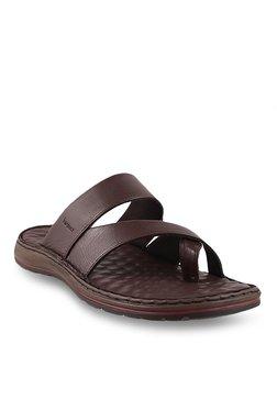Bio-Foot By Metro Dark Brown Toe Ring Sandals
