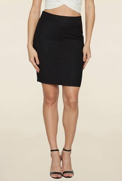 Globus Navy Solid Pencil Skirt