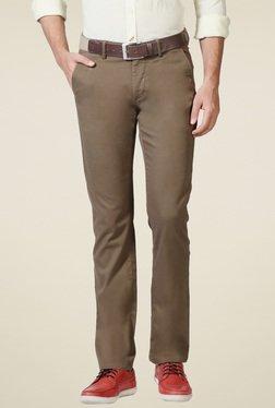 Allen Solly Khaki Ultra Slim Fit Trousers