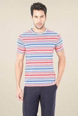 Van Heusen Blue & Red Crew Neck T-Shirt