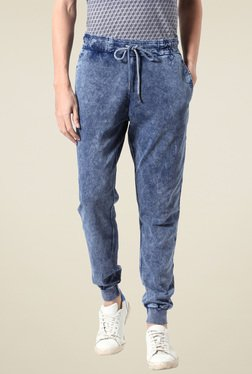 People Blue High Rise Jogger Jeans