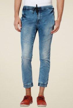 Van Heusen Blue Mid Rise Jogger Jeans