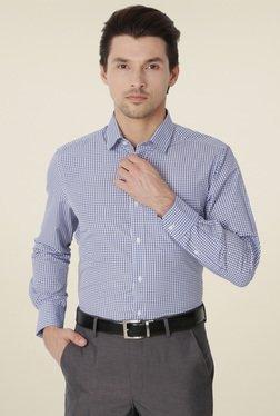 Peter England Stone Blue Full Sleeves Shirt