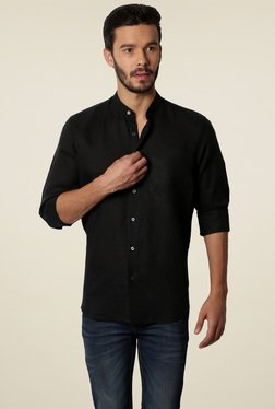 Van Heusen Black Band Collar Slim Fit Shirt
