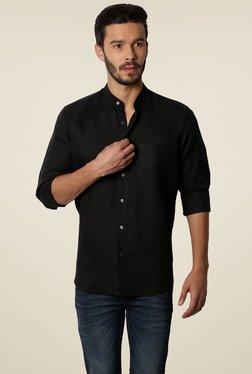 Van Heusen Black Band Collar Slim Fit Shirt
