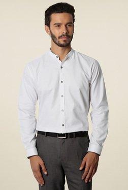 Van Heusen White Band Collar Cotton Shirt