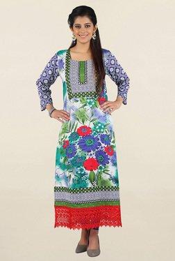 Jashn Multicolor Floral Print Cotton Kurta