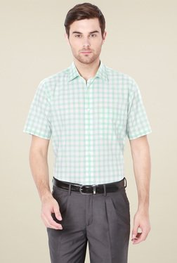 Van Heusen Mint Green & White Comfort Fit Cotton Shirt