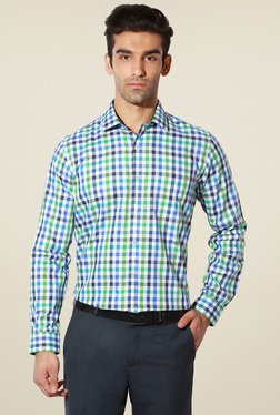 Van Heusen Multicolor Slim Fit Cotton Checks Shirt