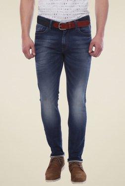Van Heusen Dark Blue Regular Fit Mid Rise Jeans