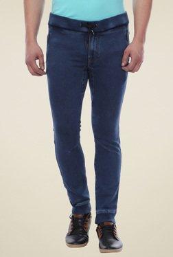 Van Heusen Steel Blue Mid Rise Jogger Jeans