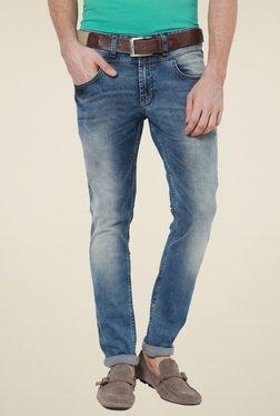 Van Heusen Light Blue Ultra Slim Fit Mid Rise Jeans