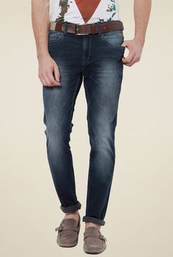Van Heusen Dark Blue Ultra Slim Fit Cotton Jeans