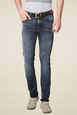 Van Heusen Grey Lightly Washed Mid Rise Jeans