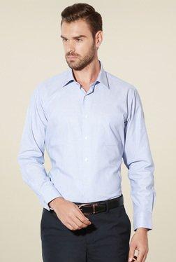 Van Heusen Light Blue Cotton Full Sleeves Shirt