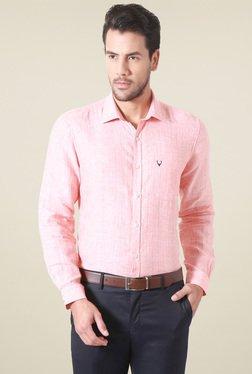 Allen Solly Peach Comfort Fit Shirt