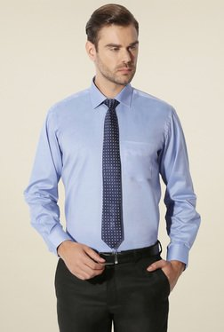 Van Heusen Blue Cotton Regular Fit Shirt