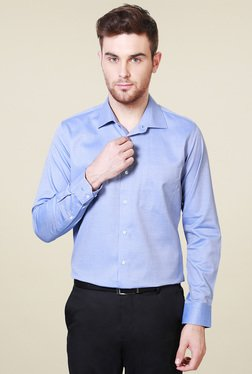 Van Heusen Blue Slim Fit Cotton Slim Fit Shirt