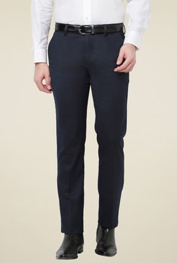 Van Heusen Navy Slim Fit Flat Front Trousers