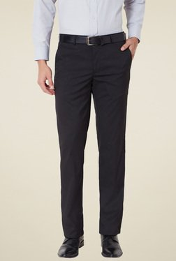 Van Heusen Black Slim Fit Flat Front Trousers
