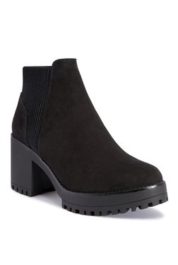 Truffle Collection Velvet Black Casual Booties