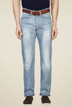 Allen Solly Light Blue Lightly Washed Jeans