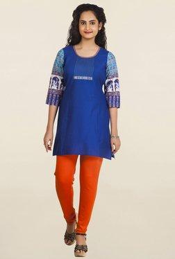 Aurelia Blue Solid Kurti