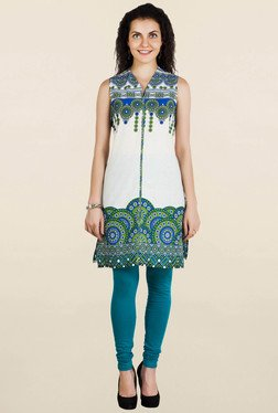 Aurelia Off White Printed Kurti - Mp000000001493979