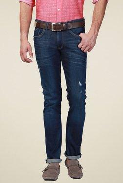 Allen Solly Dark Blue Regular Fit Mid Rise Jeans