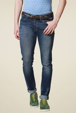 Allen Solly Dark Blue Regular Fit Jeans