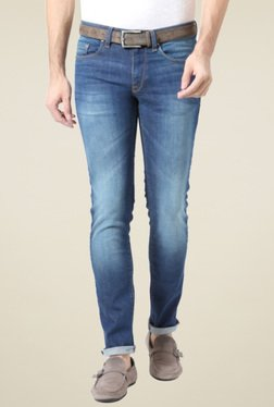 Allen Solly Blue Ultra Slim Fit Cotton Jeans