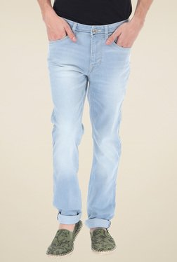 Flying Machine Ice Blue Slim Fit Low Rise Jeans