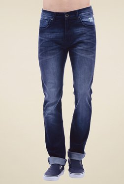 Pepe Jeans Dark Blue Slim Fit Heavily Washed Jeans