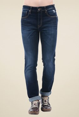 Pepe Jeans Dark Blue Skinny Fit Cotton Jeans