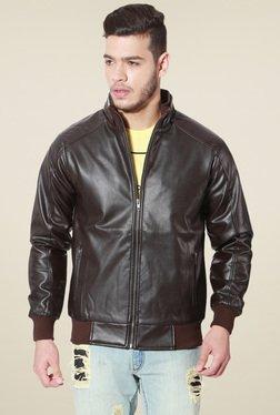People Brown Full Sleeves Jacket